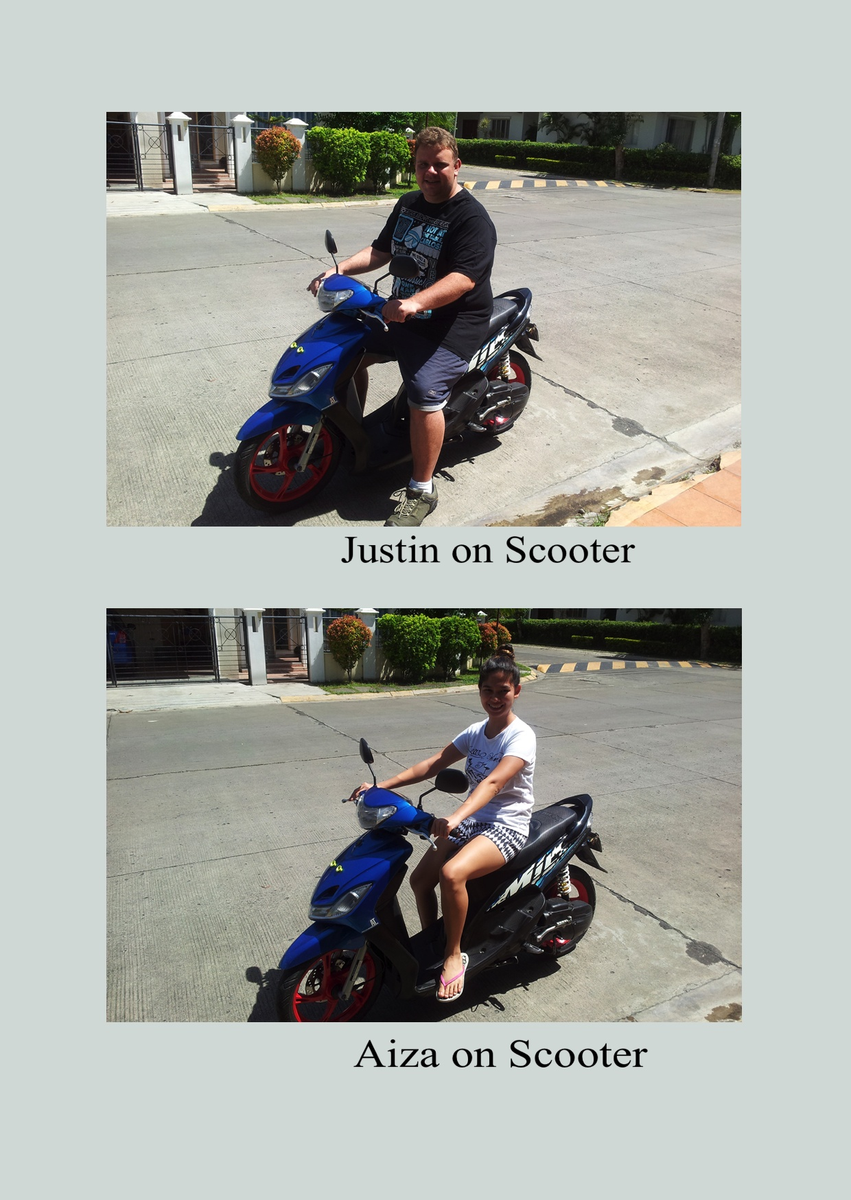 Justin and Aiza in Scooter