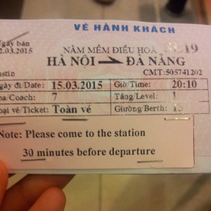 Overnight Train Ticket